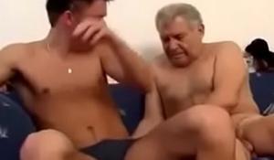 young gay boy barefucks much older grandad