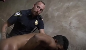Spanking cops gay Suspect on the Run, Gets Deep Dick Conviction