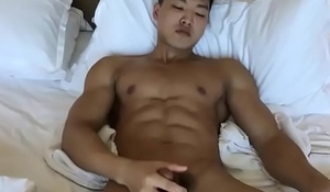 Muscle asian guy