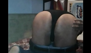 Thong  and Apple in ass
