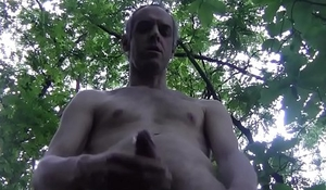 HOT HUGE CUM WITH HANDJOB IN THE WOOD, FULL VERSION, AMATEUR SOLO MALE - LONDON