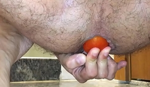 Insert 3 tomato in my asshole