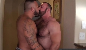 Daddies Alessio Romero and Brad Kalvo railing hard at home
