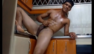 Latino Jerk in Kitchen