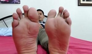 Asian Twink Marcon Foot Fetish Jerk Off