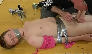 Male in bondage gay The scanty stud gets his gentle booty smacked red