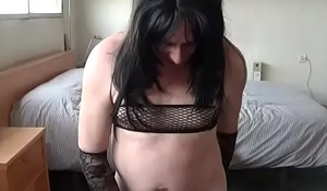 sissy vicky second attempt at piss and cum drink