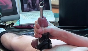 THE FEEL of electro and sounding my cock