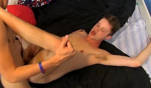 Little twink toy opens his cock starving anus for hard fuck