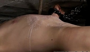 Cowboy boots gay bondage His man meat is caged and incapable to