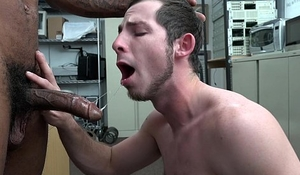 Tell me this cracker's not gay with my big black dick in his ass