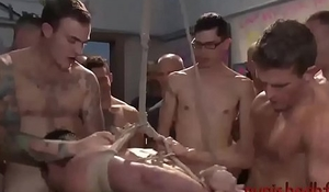 Straight Stud Gangbanged At Convention - BDSM Gay Porn