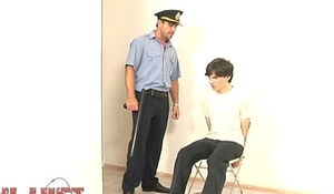 Lusty for boys policeman uses a hot suspect orally