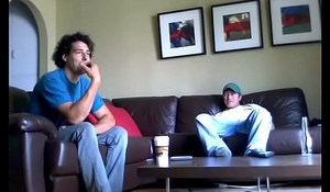 Spycam catches buddies spasmodical off up porn together