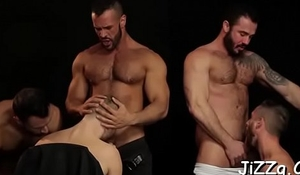 Sultry gay often proles sharing fuckfest moments with anal sex and oral-service