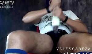 ValesCabeza203 CUM in FLESHLIGHT deslechado dentro