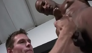 Interracial Gay Gloruhole And Nasty Handjob Video 28