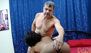 Asian twink slut Russel bends over and takes hard
