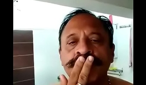 INDIAN OLD MAN TAKE BATH