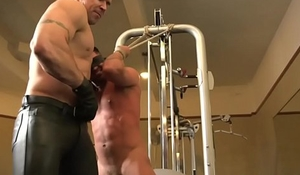 BDSM fitness sub blindfolded be fitting of cocksucking