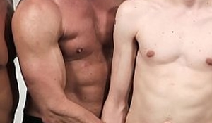 Young stepson barebacked during family threesome