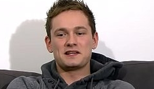 British bloke Nathan Brookes wanking solo after refer