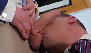 Businessmen in suits swell up and anal fuck after action