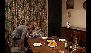 French elderly supplicant spanking