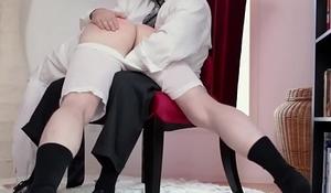 Kinky mormon spanks elder